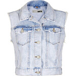 Topshop MOTO Crop Sleeveless Jacket