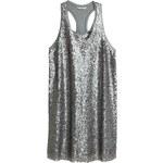 H&M Šaty s flitry, bez rukávů