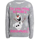 Detský šedý svetr Build A Snowman 5-6yr
