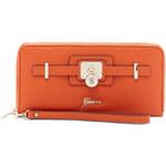 Elegantní peněženka Guess Greyson Large Zip-Around Wallet cognac