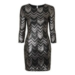 Topshop **Moonshine - Silver And Black Zig Zag Sequin Dress by Goldie
