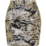 Topshop **Made To Party - Rose Gold Mix Mini Skirt by WYLDR