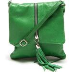 Dámská malá zelená kabelka se zipem Renata Corsi