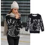 Lesara Pullover mit Grauhörnchen-Motiv - S