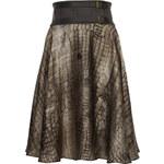 Galliano Dámská hedvábná sukně YR730572146_oliv S375 / 40
