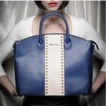 Trendy kabelka v modré barvě značky MIA BAG, Barva Modrá