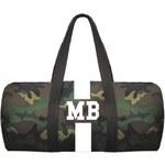 Mia Bag Army taška (unisex) - válec bílý pás, Barva bílá
