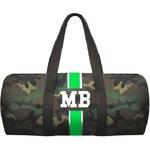 Mia Bag Army taška (unisex) - válec zelený pás, Barva zelená