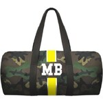 Mia Bag Army taška (unisex) - válec žlutý pás, Barva žlutá