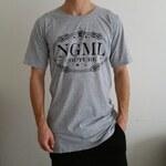 Pánské (unisex) luxusní tričko NGML šedé, Barva světle šedá, Velikost M