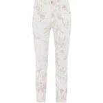 Cambio Slim Fit Jeans mit Blumenmuster im Vintage Look