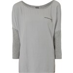 s.Oliver Premium Shirt mit Kontraststoffen und glitzerndem Bündchen
