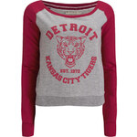 Brave Soul Women's Detroit Tigers Sweatshirt - Crimson