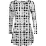 Golddigga Jersey Dress dámské White/Black AOP 8 (XS)