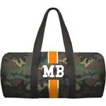 Mia Bag Army taška (unisex) - válec oranžový pás, Barva oranžová