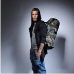 Mia Bag Army (unisex) taška - válec černý pás, Barva černá