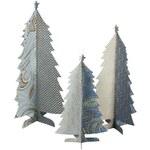 Maileg Papírový vánoční stromeček Blue - set 3 ks