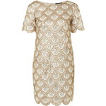 Topshop **Scallop Sequin Shift Dress by Rare