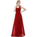 Ever Pretty plesové šaty společenské červené 9768 VE