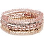 GUESS GUESS Pink and Two-Tone Bracelet Set - white