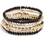 GUESS GUESS Black and Gold-Tone Bracelet Set - gold
