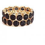 GUESS GUESS Black Caviar-Bead Stretch Bracelet Set - gold