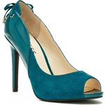 GUESS GUESS Leya Lace-Up Heels - green multi fabric