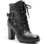 GUESS GUESS Gogi Heeled Lace-Up Boots - black
