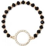 GUESS GUESS Bling Circle Stretch Bracelet - black