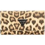 GUESS GUESS Abree Leopard-Print Slim Wallet - leopard