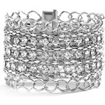 GUESS GUESS Rhinestone Magnetic Bracelet - silver