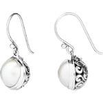 Buka Jewelry BUKA Perlové náušice Java – bílá 099