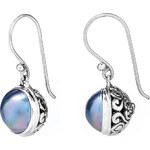 Buka Jewelry BUKA Perlové náušice Java – modrá 098