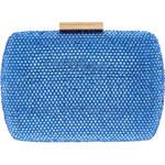 LA FEMME Jasně modré psaníčko s diamantovým povrchem