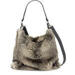 Tamaris - Velká kabelka přes rameno s kožichem a zipem MATILDA HOBO BAG