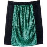 Venca Třpytivá sukně s flitry zelená/černá