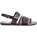 Bellucci Sandály Přírodní ploché sandále Bellucci