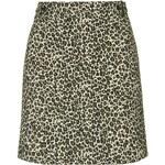 Topshop Jacquard Leopard Print Skirt
