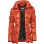 CLASS INTERNATIONAL Dámská bunda dlouhá prošívaná oranžová