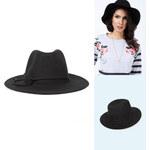 Lesara Klassischer Fedora-Hut mit Zierband