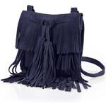 RAINBOW Kožená kabelka s třásněmi bonprix