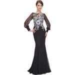 Dámské elegantní Ever Pretty plesové šaty černé 8363