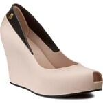 Polobotky MELISSA - Queen Wedge II Ad 31705 Pink/Black 51647