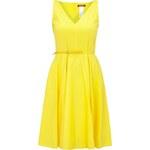 Max Mara Studio Kleid mit Taillengürtel in Lack-Optik