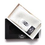 Alfons Bílý kapesníček do saka texturovaný