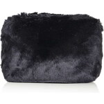 Topshop Faux Fur Zip Make Up Bag