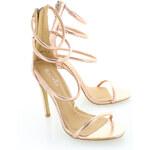 Růžovo-zlaté sandály May EUR38
