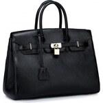 NUCELLE kožená kabelka Platinum Birki černá