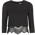 Topshop **Esmeralda Scallop And Lace Hem Blouse by Jovonna