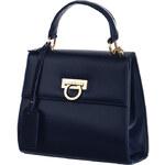 TopMode Luxusní kabelka se zlatou přezkou modrá
